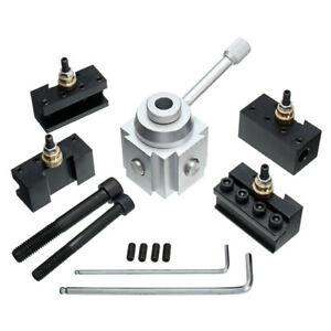 Mini-Quick-Change-Tool-Post-Holder-Aluminum-Alloy-Holder-Lathe-Tool