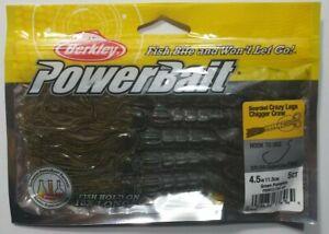 Berkley-Powerbait-Green-Pumpkin-Beared-Crazyleg-Chigger-Craw-4-5-034-Fishing-Lure