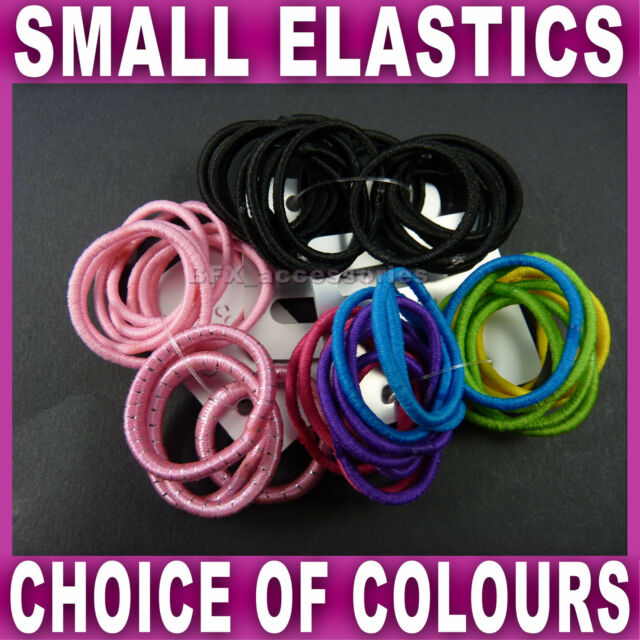 GIRLS LADIES 14pc THICK HAIR BANDS PONY TAIL ELASTICS HAIRBANDS BOBBLES PONIOS.