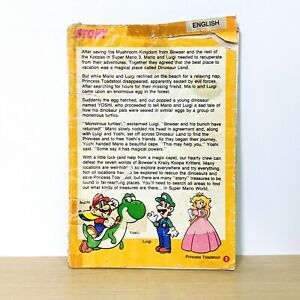 Super Mario World SNES Super Nintendo Original Instruction Booklet Manual WORN