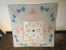 Vintage Kids Atomic Starburst Ceiling Light Fixture Glass Shade Retro MCM