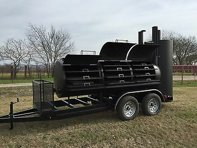 NEW BBQ pit smoker cooker and Charcoal grill trailer | eBay