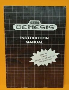 Sega Genesis User's Guide Instruction MANUAL ONLY - No Game !! No Console/System