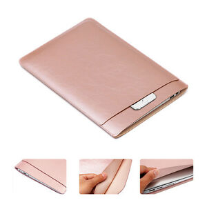 buy online 0d4f0 dd339 Details about Ultra-Thin Leather Laptop Sleeve Bag Case for MacBook Air 11  12 Pro 13 15 Retina