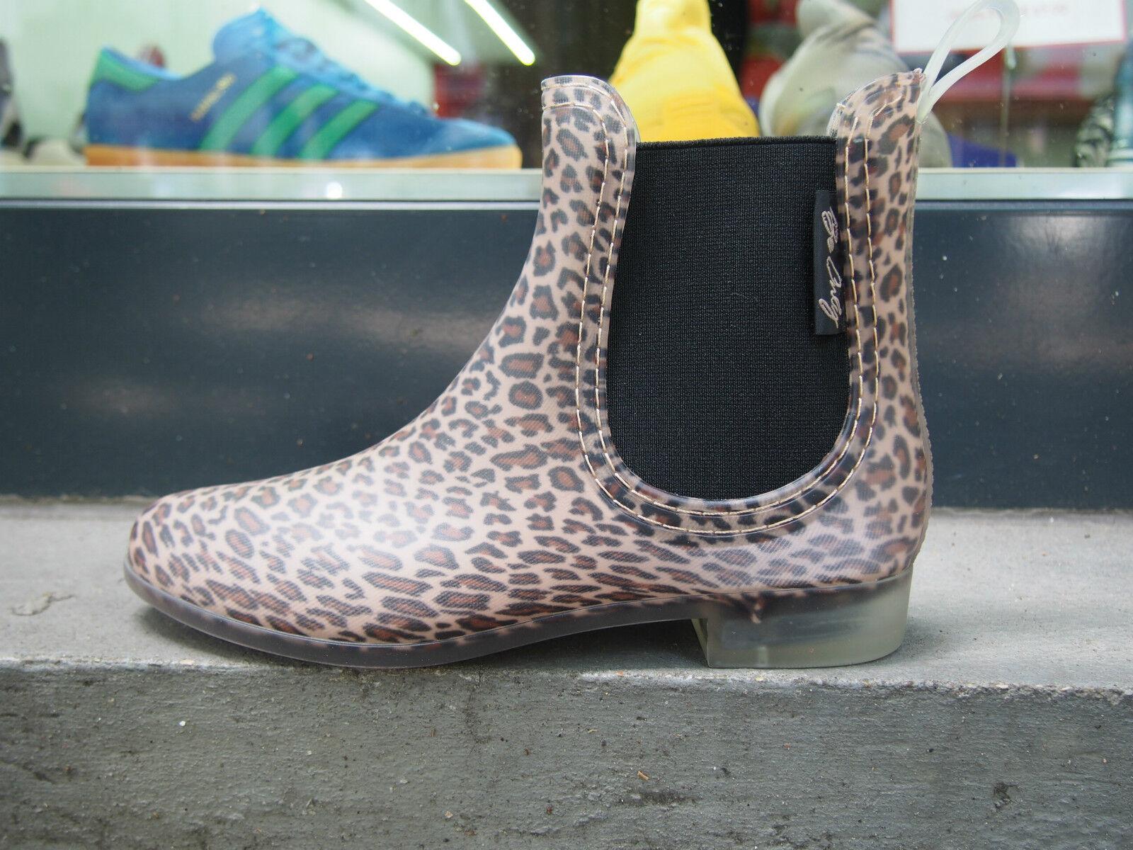 Be Only Gummistiefel Leopard matt marron Damen Stiefeletten NEU Regen Schuhe