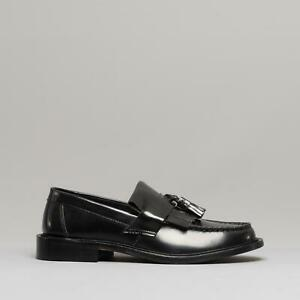 Blakeseys-SCOOTER-Mens-Casual-Dress-Real-Leather-Tassel-Slip-On-Loafers-Black