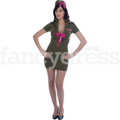 SOLDATO dell/'esercito per adulti Costume Donna Ragazza Mimetica Uniforme Costume Vestito