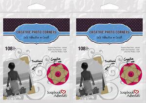 "Scrapbook Adhesives *216 Kraft Photo Corners* 1/2"" 2 packs, 108/pack 426401"