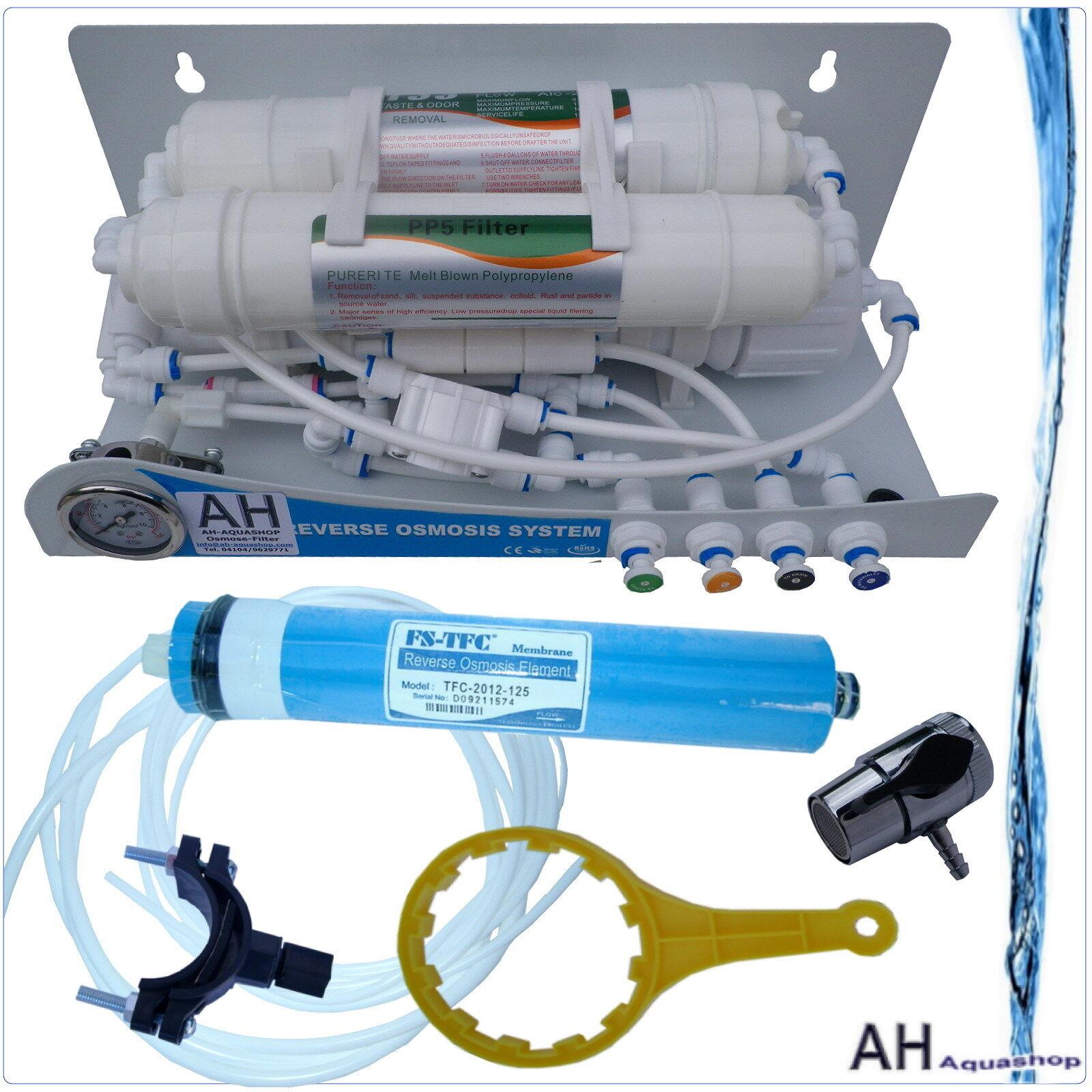100 GPD par osmose inverse pièce jointe, réservoir, 3 niveaux, filtre à eau, manomètre, considère à repasser