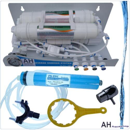 100 GPD par osmose inverse appendice 3 niveaux manomètre filtre à eau considère cintres Nouveauté