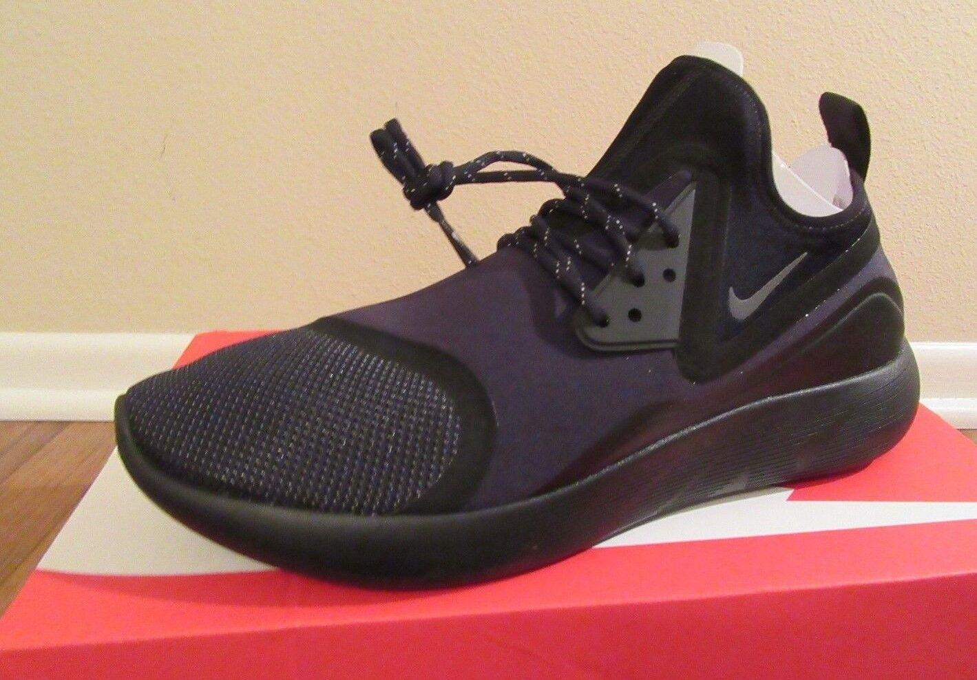 Nike Lunarcharge Essential Size 11.5 Black Dark Grey Volt 923619 001 New DS NIB