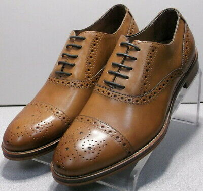252964 PF50 Men/'s Shoes Size 9 M Dark Tan Leather Lace Up Johnston /& Murphy