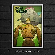"Studio Ghibli Laputa: Castle in the Sky Print 13""x19"" Signed"