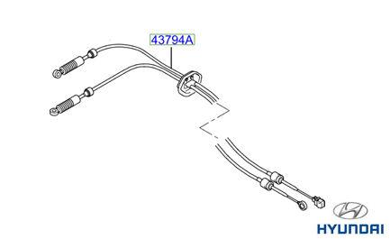 437943A200 Genuine Hyundai Trajet Gear Linkage Cables