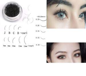 c7a0e46cc29 0.1-0.25) 6/8/10/12mm J B C D curl Individual False Eyelash ...
