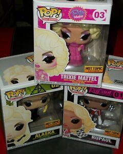 Pop! La course de dragsters de Rupaul, Figures d'action Trixie Mattel, Alaska, gay à Rupaul