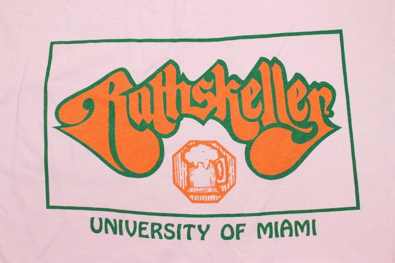 VTG Rare University of Miami Hurricanes Campus Pub Bar Rathskeller Shirt