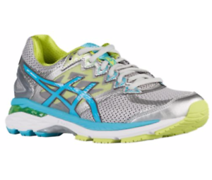 Asics Women/'s GT-2000 v4 T659N.9342 Narrow 2A - Silver//Turquoise//Lime Punch