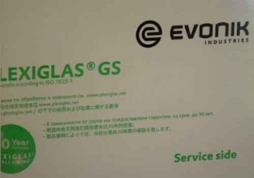 PLEXIGLAS® GS Platte, Rechteckig 10 mm Stark, GP Max: 541€/m²