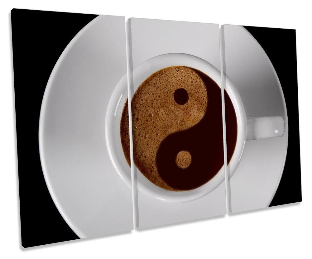 Coffee Yin Yang Kitchen Picture TREBLE CANVAS WALL ART Print