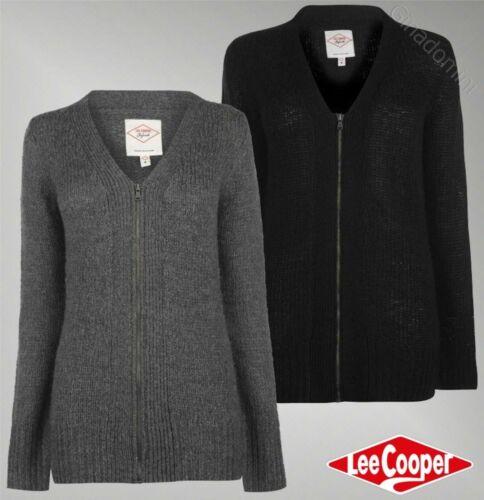 Ladies Di Marca Lee Cooper cerniera intera a maniche lunghe Essential Long Cardigan Taglia 8-18