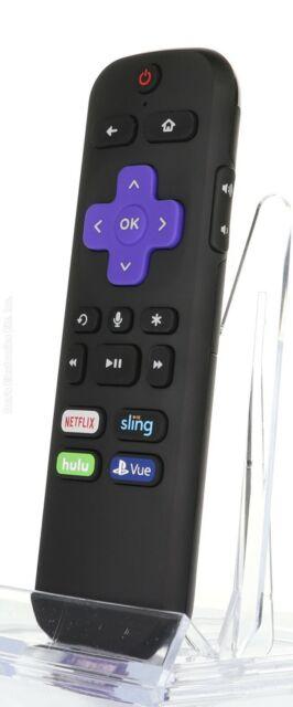 Black Roku Streaming Stick w// Voice Remote Control TV Power /& Volume