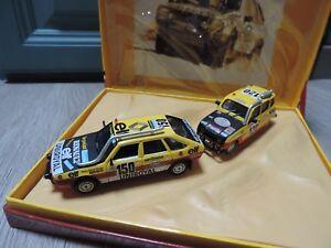 Coffret Renault 20 Turbo Et 4l Paris Dakar Des Freres Marreau Norev 1/43