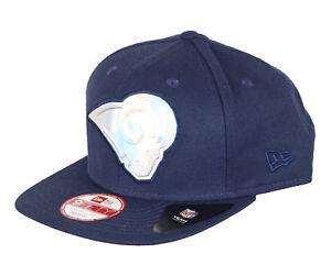 0f71237f881 NEW ERA Los Angeles Rams Iridescent Snapback Cap Adult Navy Blue LA ...