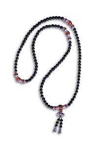 Budista-Mala-Collar-de-Oracion-Collar-Dorje-Vajra-Cadena-108-Perlas-Negro