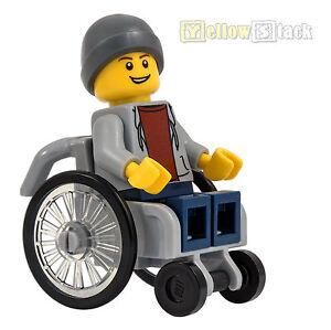 Wheelchair Minifig Figur Stadt Zubehör Rolli 60134 Rollstuhl LEGO City