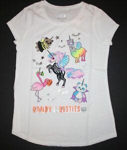New-Justice-Girls-Halloween-Top-Tee-Candy-Besties-Unicorn-7-12-14-16-18-20-22-24