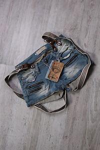 Jeans-Hot-Pants-Damen-Shorts-Hosen-Hueftjeans-kurz-Hosentraeger-blau-Neu-XS-S-M-L