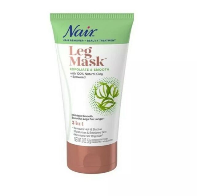 Nair Leg Mask Exfoliate Smooth With Seaweed Hair Remover 2 Oz