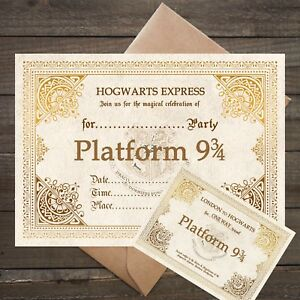 Image Is Loading Harry Potter Platform 9 3 4 Party Invitations