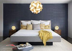 Dettagli su PROMO Luci vintage casa camera da letto Lampadario Palla 35cm  +2 abatjours 23cm