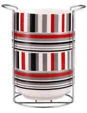 WELBERG 12703 - 5 PEZZI COLAZIONE CEREALI Ciotole Set di 5, 4 Soup bowls & 1 STAND
