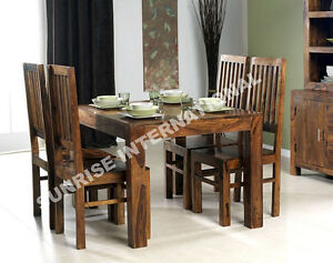 Sheesham-Wood-Dining-Table-with-4-wooden-Chair-set-5-pc-Set