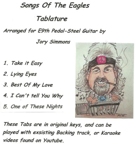 Tabbed for E9 Pedal-Steel Guitar Songs of the Eagles