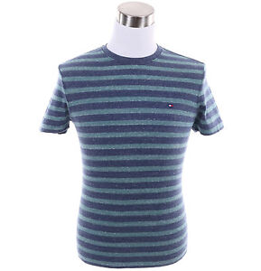 Tommy-Hilfiger-Men-Classic-Fit-Stripe-Crew-Neck-Tee-Short-Sleeve-Free-0-Ship