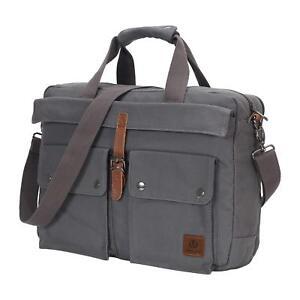 1fce595e2c 17 inch Canvas Laptop Computer Bag Messenger Bag Multi-Compartment ...