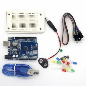 Electronic Components & Supplies 1set New Starter Kit Uno R3 Mini Breadboard Led Jumper Wire Button
