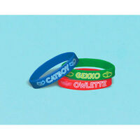 Pj Masks Rubber Bracelets (6) Birthday Party Supplies Favors Silicone Disney