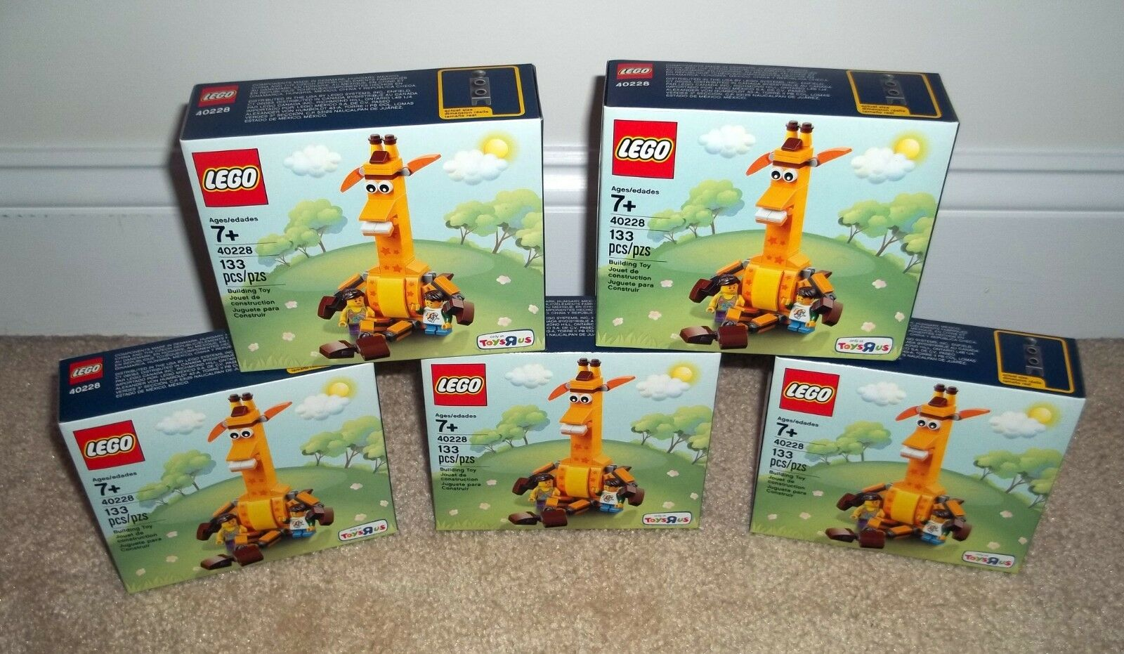 Lego Toys R Us Exclusive 40228 Geoffrey Lot of 5 NEW in Sealed Box Rare