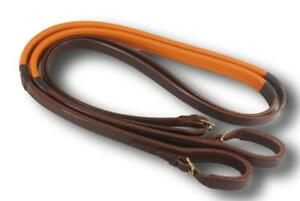 D-A-Brand-Dark-Oil-Leather-Race-Reins-Horse-Tack-Equine