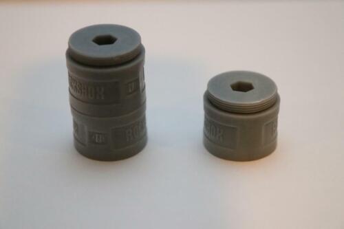 RockShox Bottomless Tokens 35mm Gray Solo Air Pike Boxxer Lyrik Yari 3 pack
