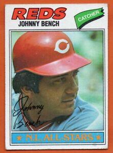 1977-Topps-70-Johnny-Bench-VG-VGEX-Cincinnati-Reds-FREE-SHIPPING