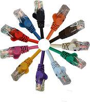 10m RJ45 Ethernet Cable Cat5e Network LAN Cat5 Internet Patch Lead in 11 Colours