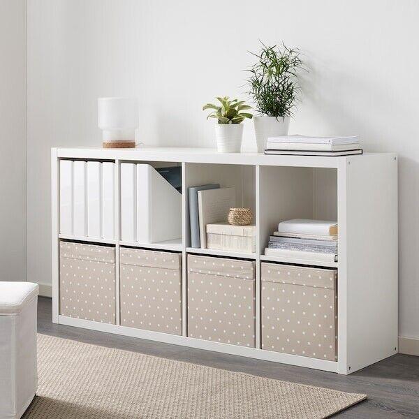 Versand IKEA BLÄDDRA grau KALLAX Korb Box Aufbewahrung 33x38x33 Filz Dröna inkl