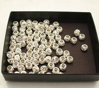 8mm Round Loose Diamond Cut Bead Ball Jewelry Making Real 925 Sterling Silver