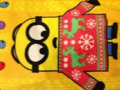Little Boys Fleece Despicable Me Minion Ugly Sweater Pajama Christmas Sleep Set